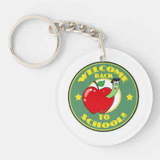 Welcome Back to School Single-Sided Round Acrylic Keychain