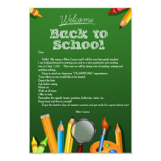Welcome Back To School Notecard 9 Cm X 13 Cm Invitation Card