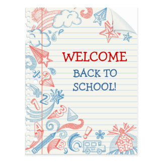 welcome back to school postcards welcome back to school postcard templates zazzle uk. Black Bedroom Furniture Sets. Home Design Ideas