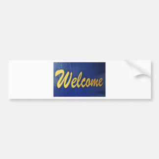 Welcome Bumper Sticker