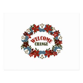 Welcome Change Postcard