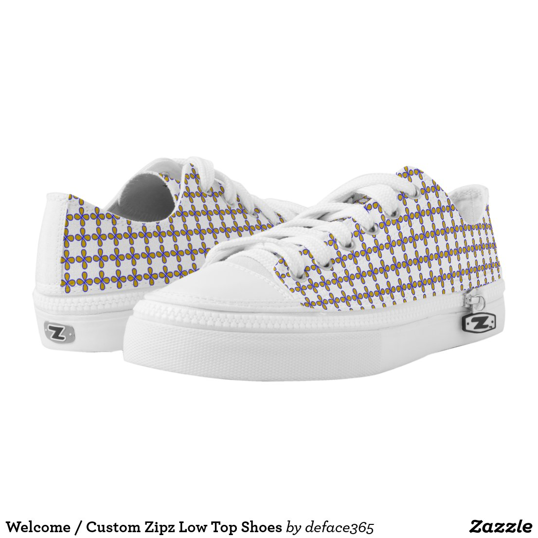 Welcome / Custom Zipz Low Top Shoes Printed Shoes