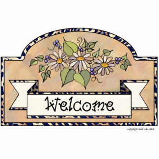 """Welcome"" - Decorative Sign Photo Sculpture Decoration"