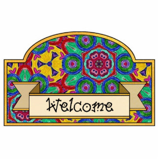 """Welcome"" - Decorative Sign Photo Cut Out"