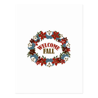 Welcome Fall Postcard