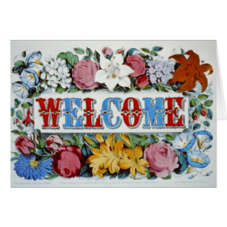 "'Welcome' Greeting Card (5"" x 7"")"