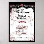 Welcome Halloween Wedding Poster Blood Splatter