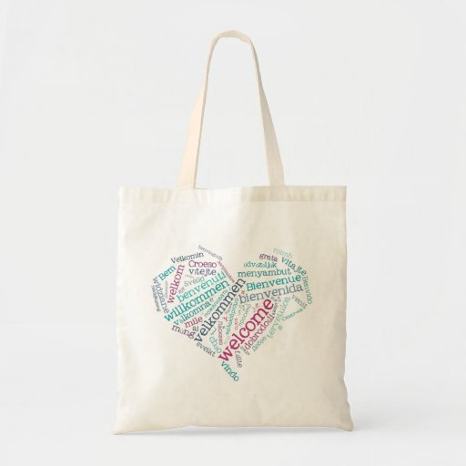 Welcome Heart (many languages) Bag