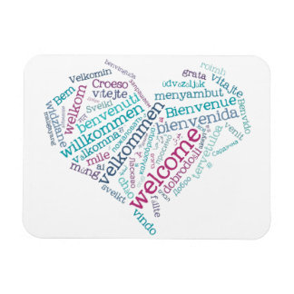 Welcome Heart (many languages) Flexible Magnet