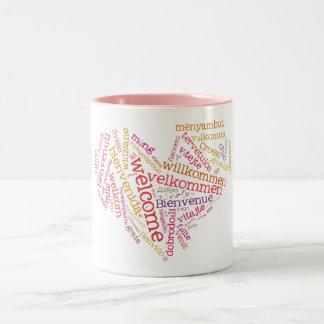 Welcome Heart (many languages) Mug