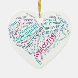 Welcome Heart (many languages) Ornament