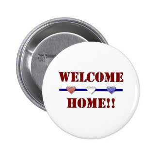 Welcome Home: 3 hearts 6 Cm Round Badge