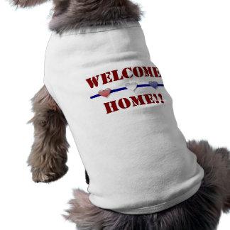 Welcome Home: 3 hearts Sleeveless Dog Shirt