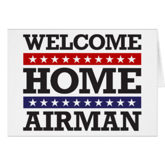 Welcome Home Airman Card