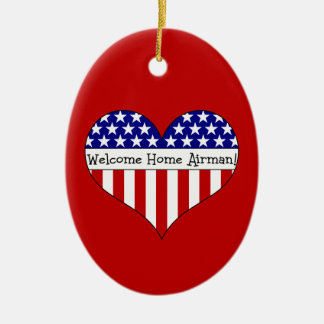 Welcome Home Airman! Ceramic Oval Decoration
