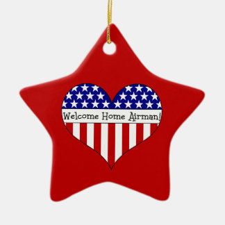 Welcome Home Airman! Ceramic Star Decoration