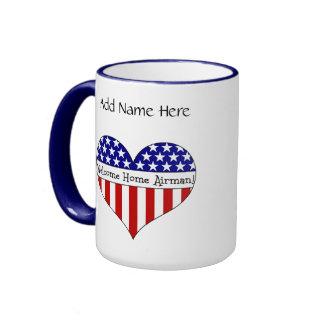 Welcome Home Airman! Ringer Mug