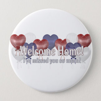 Welcome Home Balloons 10 Cm Round Badge