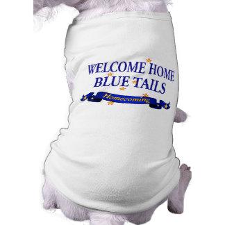 Welcome Home Blue Tails Sleeveless Dog Shirt