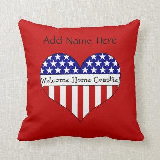 Welcome Home Coastie! Throw Pillows