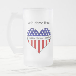 Welcome Home Coastie! Frosted Glass Mug
