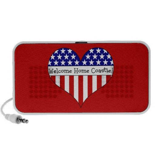 Welcome Home Coastie! Portable Speakers