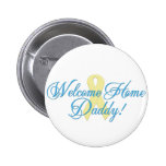 welcome home daddy blue ribbon 6 cm round badge