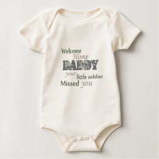 "Welcome Home Daddy - ""Little Soldier"" Baby Bodysuit"