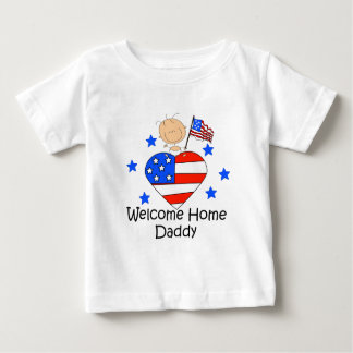 Welcome Home Daddy Stick Figure Baby Baby T-Shirt
