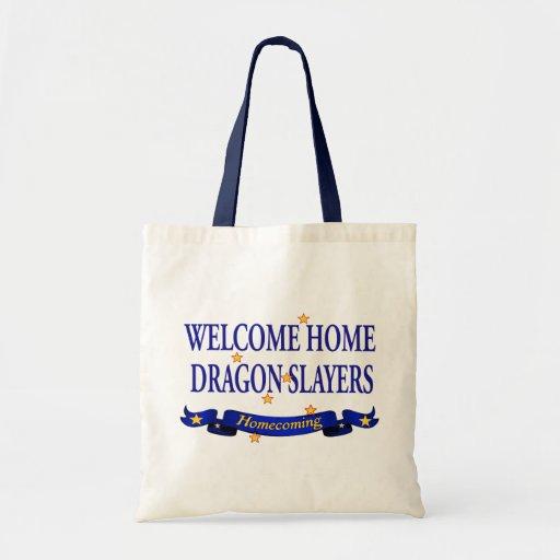Welcome Home Dragon Slayers Canvas Bag