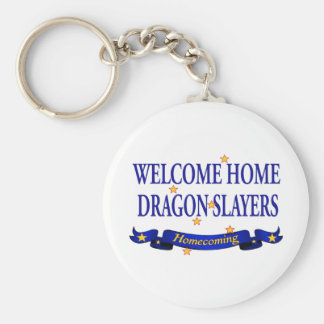Welcome Home Dragon Slayers Basic Round Button Key Ring