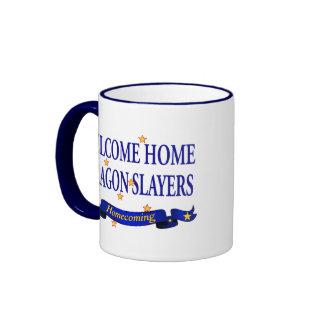 Welcome Home Dragon Slayers Ringer Mug