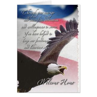 Welcome Home - Eagle Greeting Card