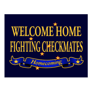 Welcome Home Fighting Checkmates Postcard