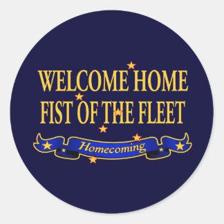 Welcome Home Fist of the Fleet Round Sticker
