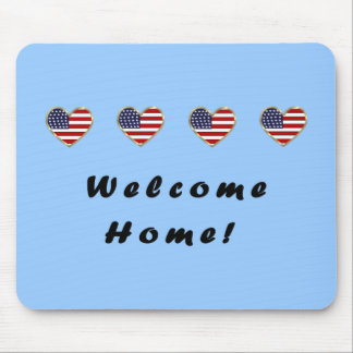 Welcome Home Flags Mouse Pad