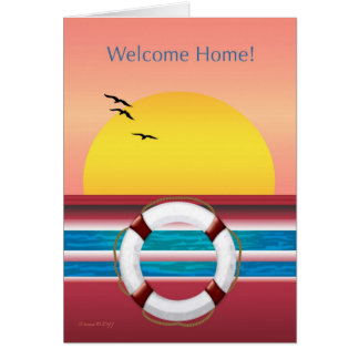 Welcome Home - From Cruise Greeting Card