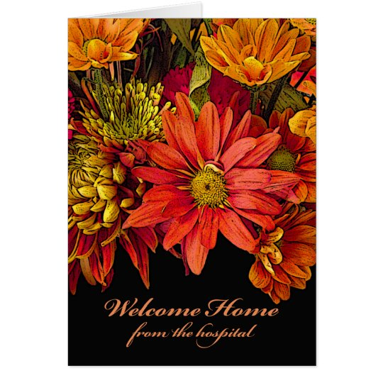 Welcome Home from the Hospital, Autumn Flowers Card