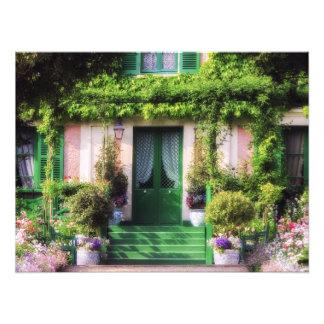 Welcome Home Garden Facade Photo Print