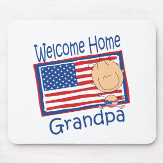 Welcome Home Grandpa Flag Baby Mouse Pads