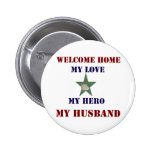 Welcome Home Green 6 Cm Round Badge