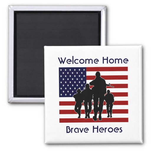 Welcome Home Heroes Magnet