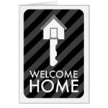welcome home key greeting card