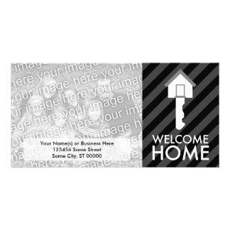 welcome home key photo greeting card