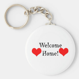 Welcome Home Basic Round Button Key Ring