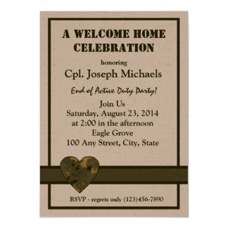 Welcome Home Military 11 Cm X 16 Cm Invitation Card