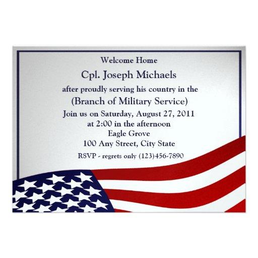 Welcome Home/ Military Custom Invitations