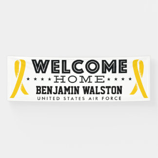 Welcome Home Military Yellow Ribbon Banner