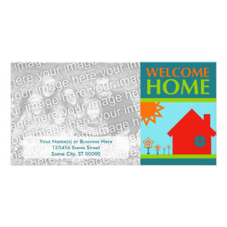 welcome home (mod crayola) photo card