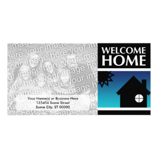 welcome home (mod sunset) picture card